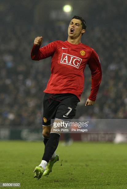Manchester United's Cristiano Ronaldo rues a missed chance