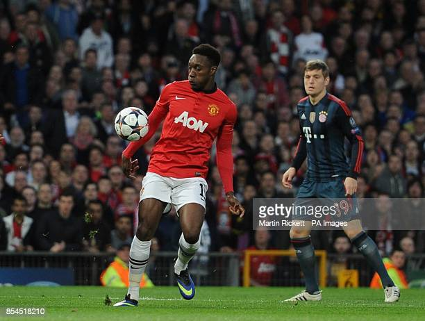 Manchester United's Danny Welbeck controls the ball moments before scoring a goal which is disallowed due to dangerous play
