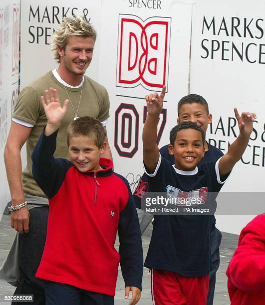 Manchester United's David Beckham unveils his range of Boyswear available from Marks Spencer in Manchester *The father of two is reported to have...