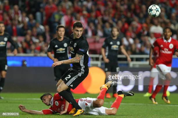 Manchester Uniteds defender Victor Lindelof from Sweden during the match between SL Benfica v Manchester United FC UEFA Champions League playoff...