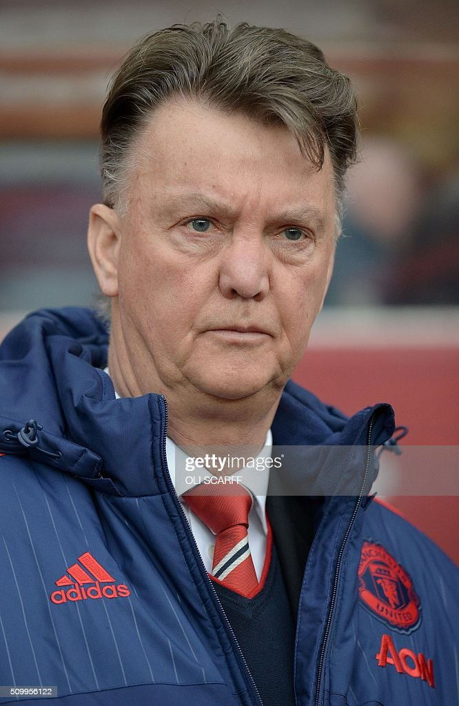 Manchester United's Dutch manager Louis van Gaal arives on the pitch ahead of the English Premier League football match between Sunderland and Manchester United at the Stadium of Light in Sunderland, northeast England on February 13, 2016. / AFP / OLI SCARFF / RESTRICTED TO EDITORIAL USE. No use with unauthorized audio, video, data, fixture lists, club/league logos or 'live' services. Online in-match use limited to 75 images, no video emulation. No use in betting, games or single club/league/player publications. /