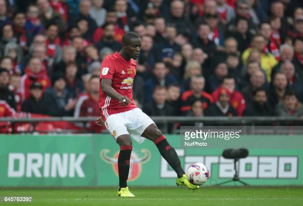 Manchester United's Eric Bailly during the EFL Cup Final Match between Manchester United and Southampton on February 26 at the Wembley Stadium London