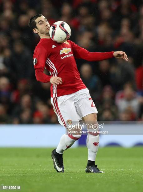 Manchester United's Henrikh Mkhitaryan during the UEFA Europa League Round of Sixteen Second Leg match at Old Trafford Manchester