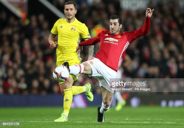 Manchester United's Henrikh Mkhitaryan in action during the UEFA Europa League Round of Sixteen Second Leg match at Old Trafford Manchester