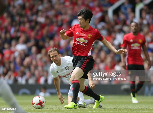 Manchester United's Jisung Park in action