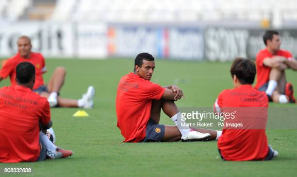 Manchester United's Luis Nani during the training session at the Estadio Mestalla Valencia Spain