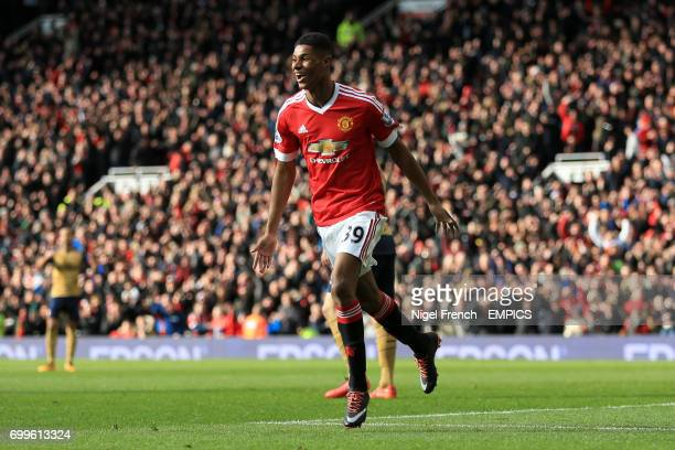 Manchester United's Marcus Rashford celebrates scoring his side's second goal of the game