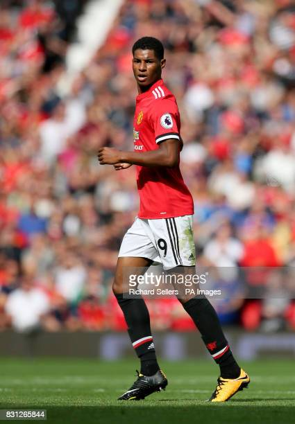 Manchester United's Marcus Rashford during the Premier League match at Old Trafford Manchester