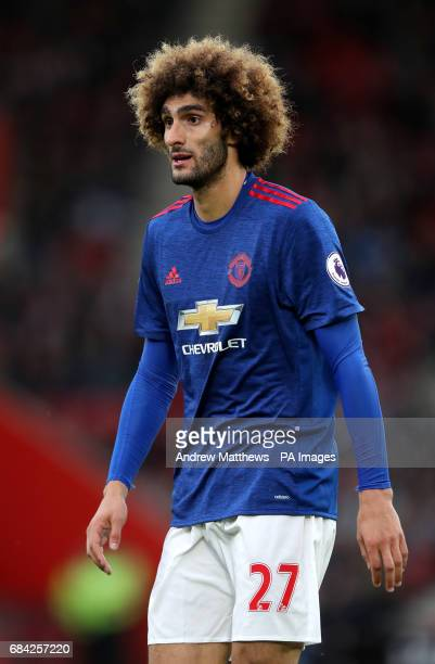Manchester United's Marouane Fellaini during the Premier League match at St Mary's Southampton