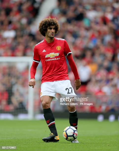Manchester United's Marouane Fellaini during the Premier League match at Old Trafford Manchester
