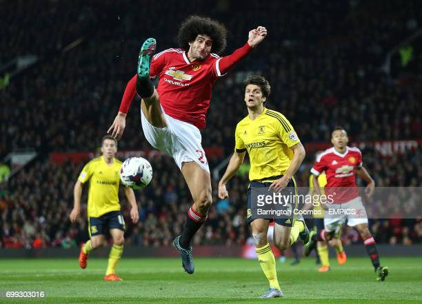 Manchester United's Marouane Fellaini fails to trap the ball against Middlesbrough
