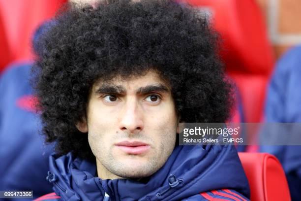 Manchester United's Marouane Fellaini on the bench