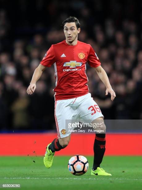 Manchester United's Matteo Darmian during the Emirates FA Cup Quarter Final match at Stamford Bridge London