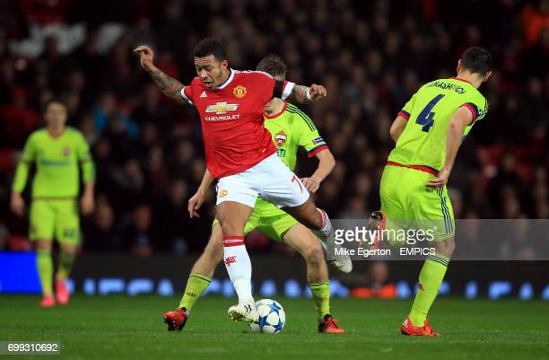 Manchester United's Memphis Depay in action