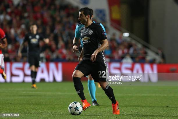 Manchester Uniteds midfielder Henrikh Mkhitaryan from Armenia during the match between SL Benfica v Manchester United FC UEFA Champions League...