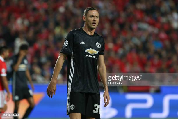 Manchester Uniteds midfielder Nemanja Matic from Serbia during the match between SL Benfica v Manchester United FC UEFA Champions League playoff...