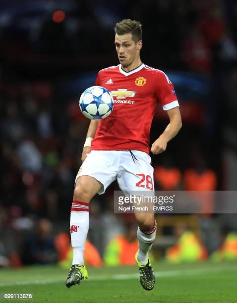 Manchester United's Morgan Schneiderlin in action against Club Brugge