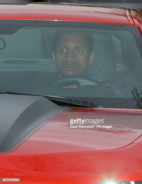 Manchester United's Nani arrives at the clubs' AON Training Complex Carrington