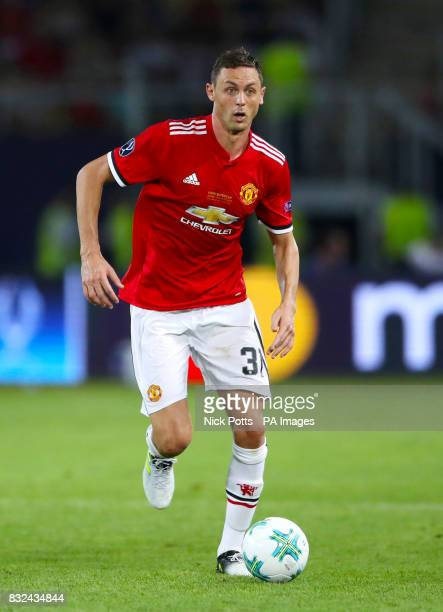 Manchester United's Nemanja Matic during the UEFA Super Cup match at the Philip II Arena Skopje Macedonia