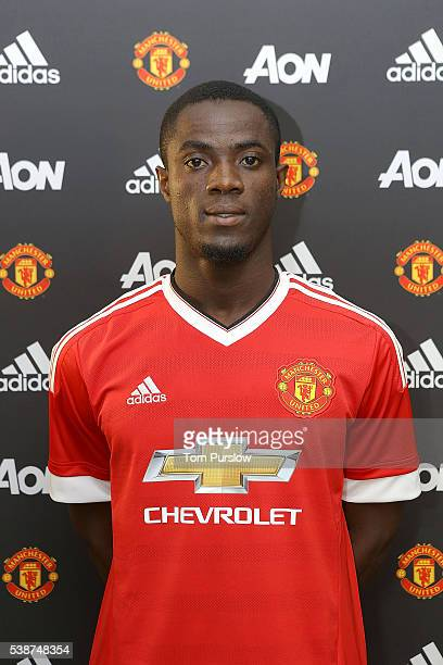 Manchester United's new signing Eric Bailly is unveiled at Old Trafford on June 8 2016 in Manchester England
