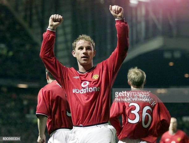 LEAGUE Manchester United's Nicky Butt celebrates after scoring against SK Sturm Graz during the Champions League Group A game at Old Trafford...