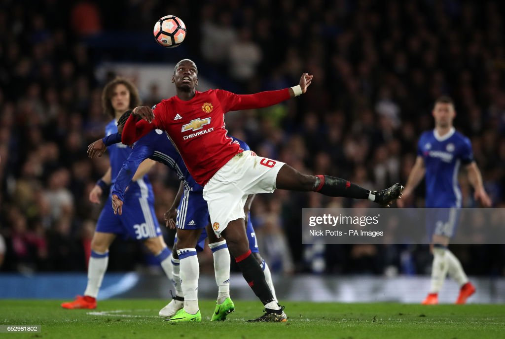 Manchester United's Paul Pogba during the Emirates FA Cup, Quarter Final match at Stamford Bridge, London.