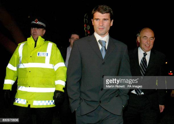 Manchester United's Roy Keanewith Solicitor Morice Watkins leaves the Reebok Stadium Bolton following an FA committee disciplinary hearing * A...