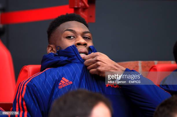 Manchester United's Timothy FosuMensah on the bench