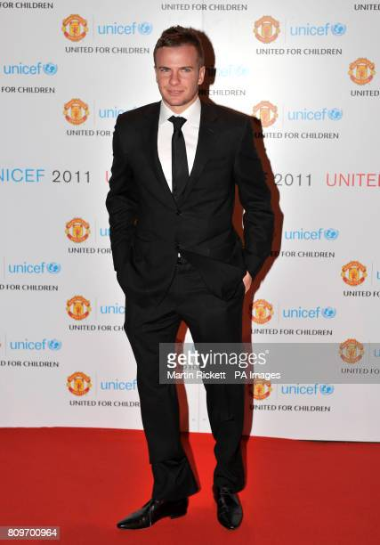 Manchester United's Tom Cleverley arrives at the Manchester United 'United for UNICEF' gala dinner at Old Trafford