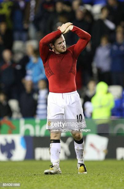 Manchester United's Wayne Rooney celebrates victory after the final whistle
