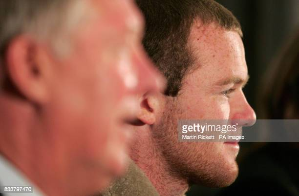 Manchester United's Wayne Rooney during a press conference at Old Trafford Manchester