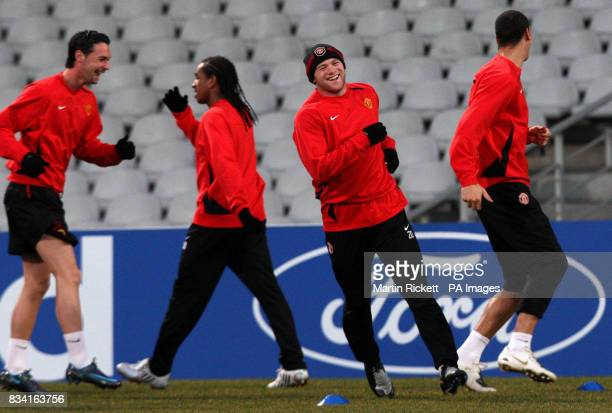 Manchester United's Wayne Rooney during a training at the Stade Gerland in Lyon France