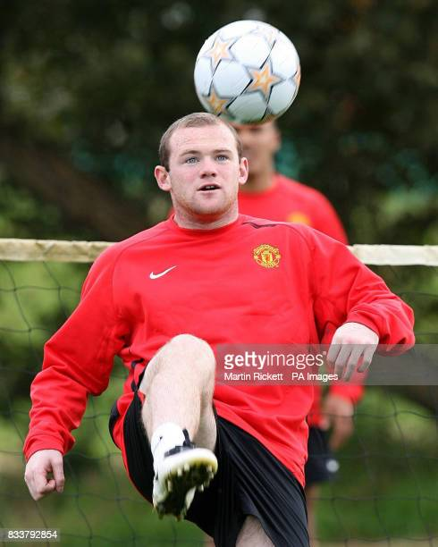 Manchester United's Wayne Rooney during a training session at Carrington Manchester