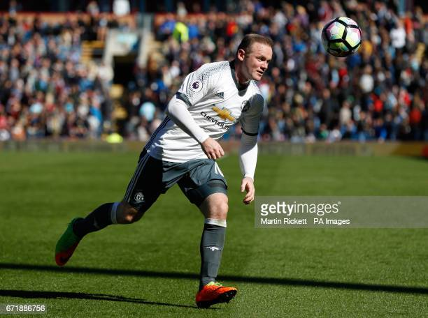 Manchester United's Wayne Rooney during the Premier League match at Turf Moor Burnley