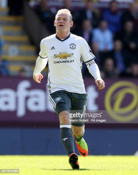 Manchester United's Wayne Rooney during the Premier League match at Turf Moor Burnley PRESS ASSOCIATION Photo Picture date Sunday April 23 2017