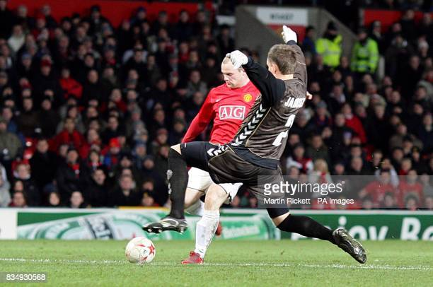 Manchester United's Wayne Rooney scores his sides second goal of the game