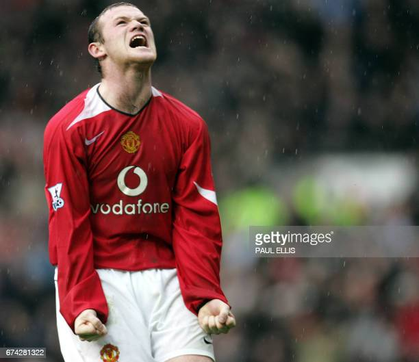 Manchester United's Wayne Rooney shows his frustration after missing a shot against Birmingham City during their English Premiership football match...