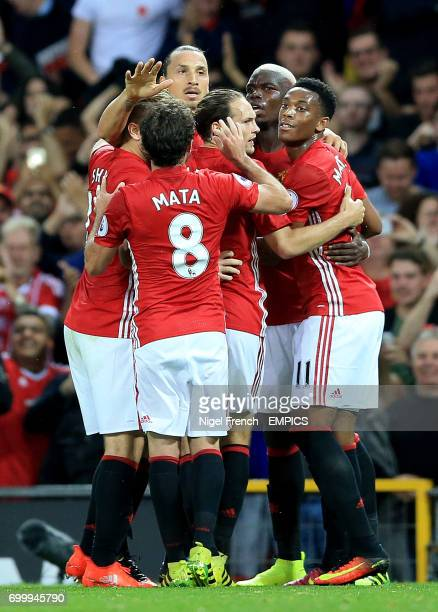 Manchester United's Zlatan Ibrahimovic celebrates scoring his side's first goal of the game