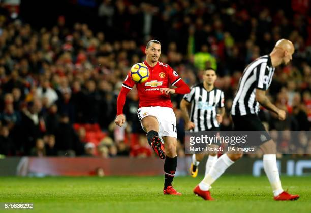 Manchester United's Zlatan Ibrahimovic during the Premier League match at Old Trafford Manchester