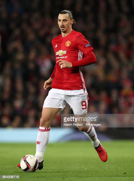 Manchester United's Zlatan Ibrahimovic during the UEFA Europa League Round of Sixteen Second Leg match at Old Trafford Manchester