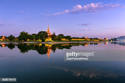 Mandalay Palace Moat : Stock Photo