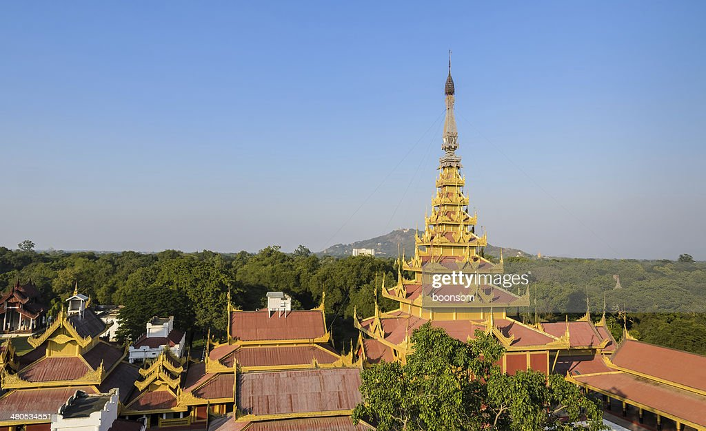 Mandalay Royal Palace, Myanmar : Stock-Foto