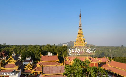 Mandalay Royal Palace, Myanmar : Stockfoto