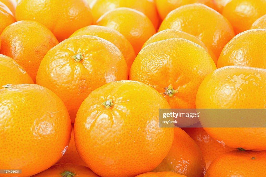 Mandarines background. : Stock Photo