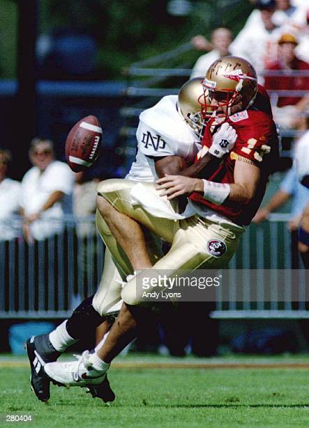 FSU''S 2316 WIN OVER NOTRE DAME AT THE CITRUS BOWL IN ORLANDO NOTRE DAME RECOVERED THE BALL Mandatory C