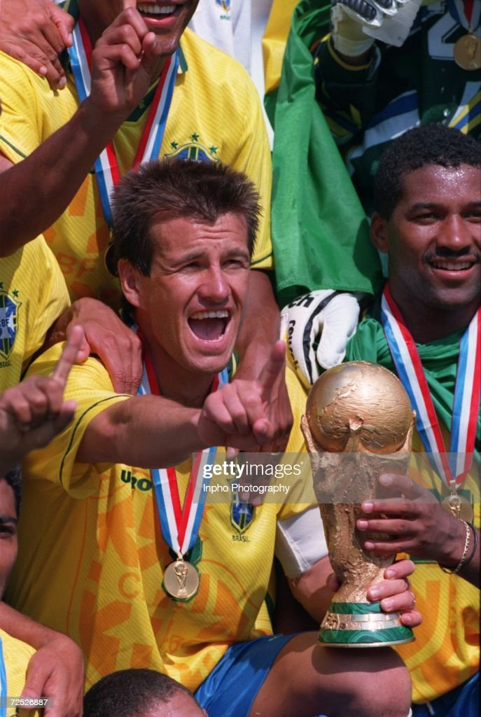 S VICTORY OVER ITALY ON PENALTIES IN THE 1994 WORLD CUP FINAL AT THE ROSE BOWL STADIUM IN PASADENA CALIFORNIA Mandatory Credit Billy...