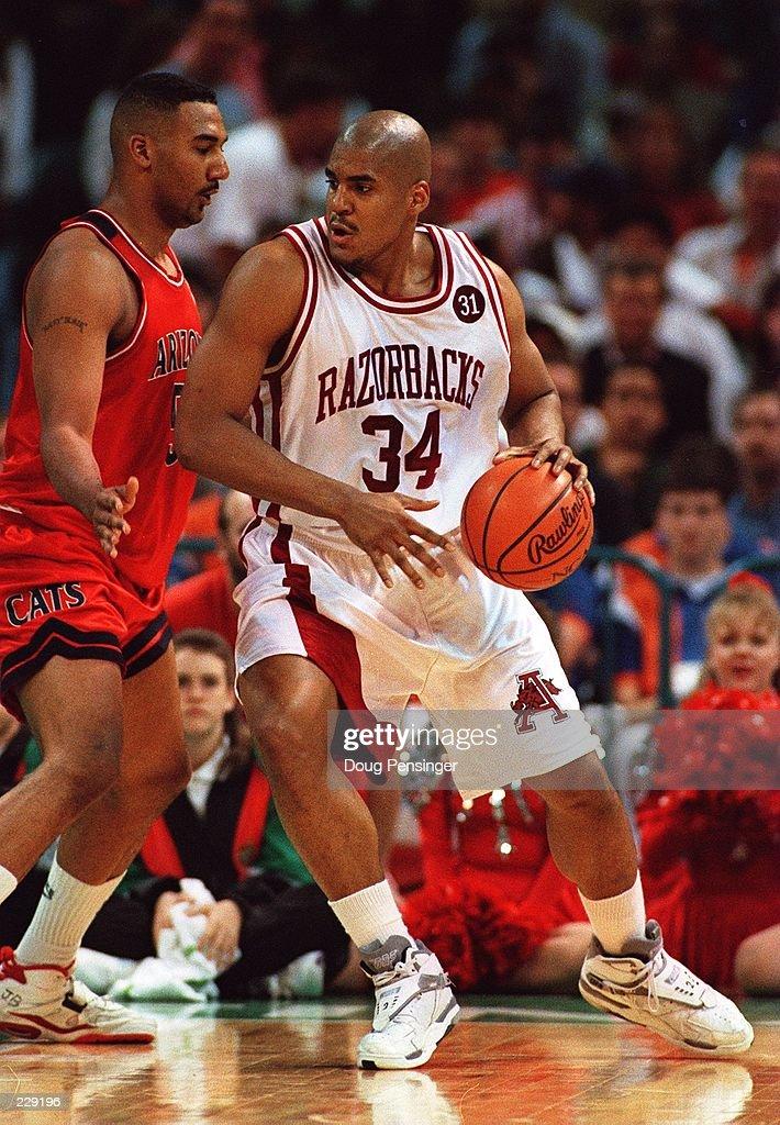 ARIZONA''S JOSEPH BLAIR DURING THE NCAA SEMIFINAL IN CHARLOTTE NORTH CAROLINA ARKANSAS WON 9182 Mandatory Credit Doug Pensinger/ALLSPORT