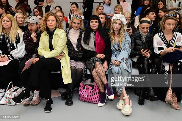 Mandi Lennard Guest Margot Bowman Camille Benett Princess Julia Liz y2k and Billie JD Porter attend the Front Row at the Ryan Lo show during London...