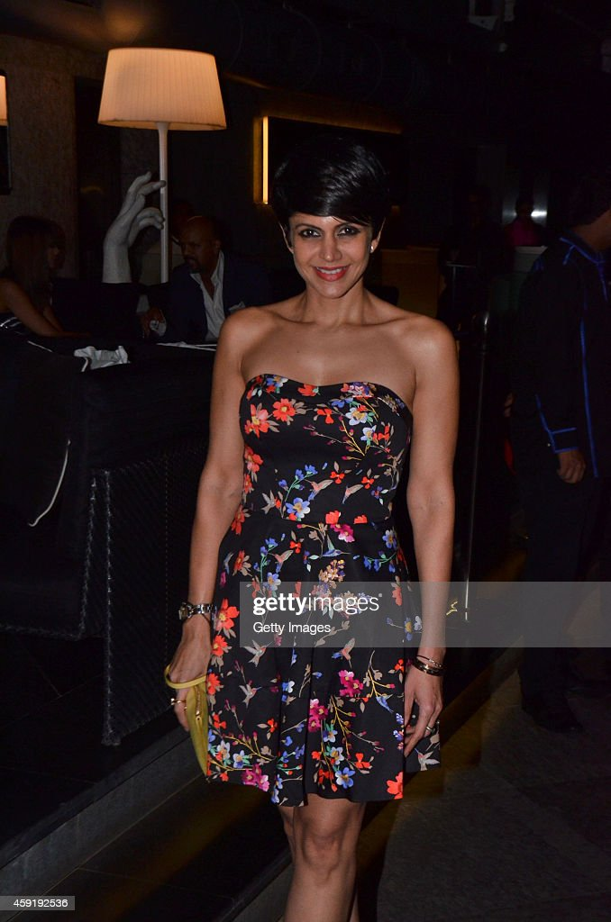 Mandira Bedi attends a closed door occasion with the star cast of 'The Best Of Me' hosted by Ishan Saksena, CEO of Relativity-B4U and Ryan Kavanaugh, CEO of Relativity in association with the GQ October 30, 2014 at AER Lounge, Four Seasons, Worli in Mumbia, India.