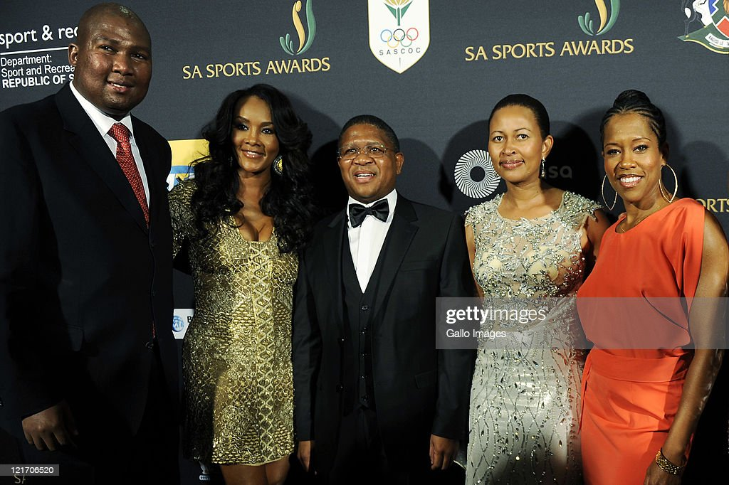<a gi-track='captionPersonalityLinkClicked' href=/galleries/search?phrase=Mandla+Mandela&family=editorial&specificpeople=5849591 ng-click='$event.stopPropagation()'>Mandla Mandela</a>, Vivica A Fox, <a gi-track='captionPersonalityLinkClicked' href=/galleries/search?phrase=Fikile+Mbalula&family=editorial&specificpeople=4462961 ng-click='$event.stopPropagation()'>Fikile Mbalula</a>, Nozuko Mbalula, <a gi-track='captionPersonalityLinkClicked' href=/galleries/search?phrase=Regina+King&family=editorial&specificpeople=202510 ng-click='$event.stopPropagation()'>Regina King</a> during the SA Sports Awards from Sun City Superbowl on August 21, 2011 in Rustenburg, South Africa.